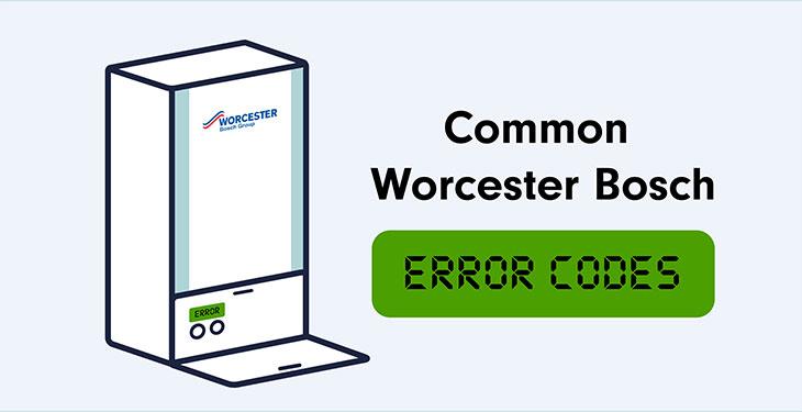 Common Worcester Bosch Boiler Error Codes